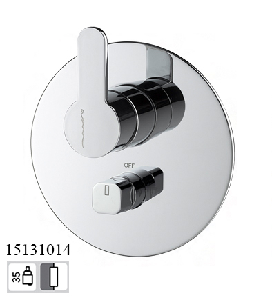 15131014 Concealed 2 way out Bath Mixer EKO