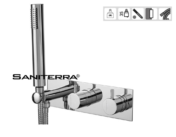 15131016A Concealed 2/3 Way out Bath Mixer with Set Hand Shower SLIM