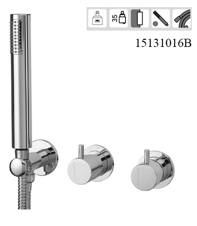 15131016B Concealed 2/3 Way out Bath Mixer with Set Hand Shower SLIM