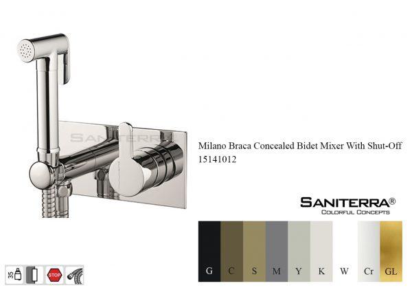 15141012 Concealed Bidet Mixer With Shut-Off BRACA