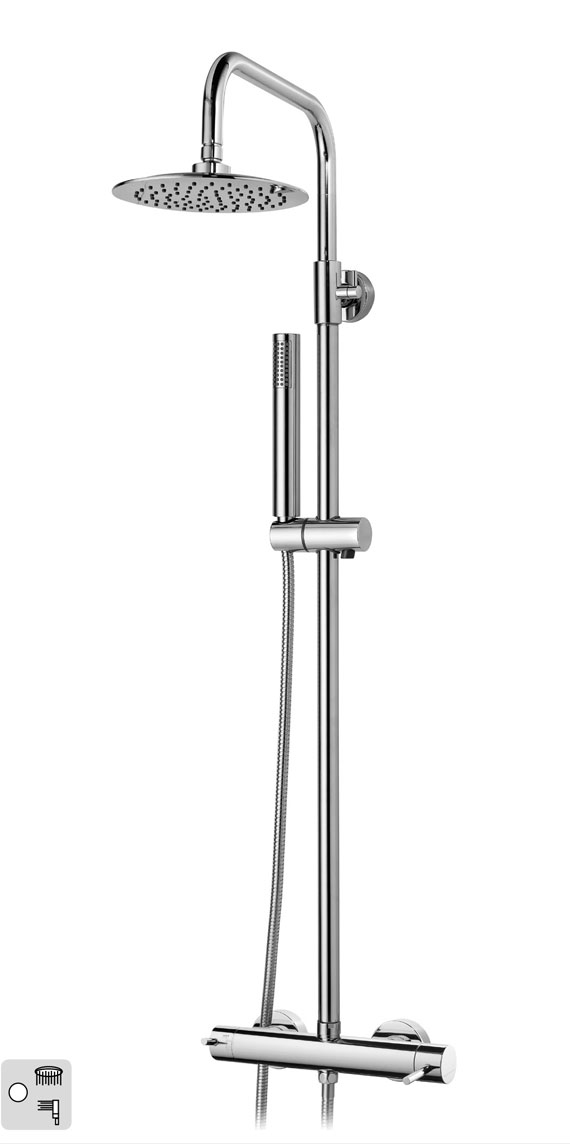 #16001020 Shower Mixer with Telescopic Column with Shower Kit CELIN