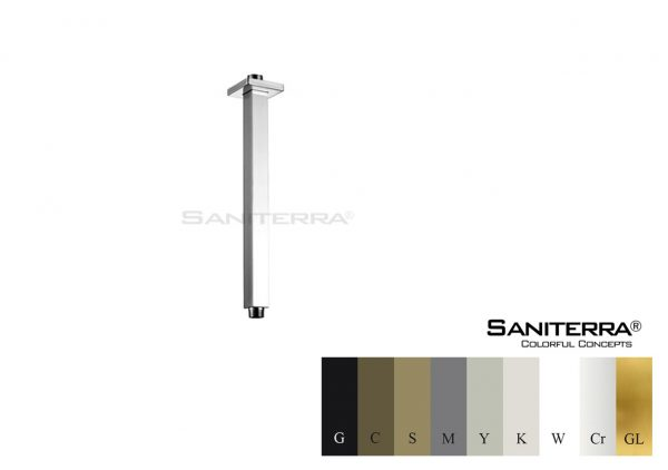 #16201103 Brass Square Ceiling Shower Arm PLAN
