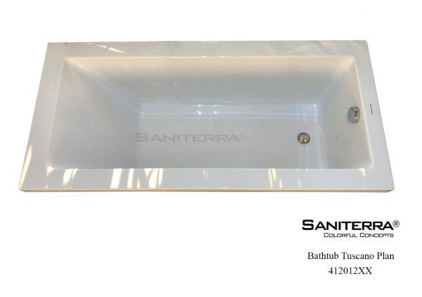 412012XX Sanitary Acrylic Bathtub PLAN