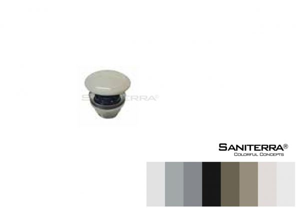 #530011 Brass Shower Waste with Ceramic Colored Cap